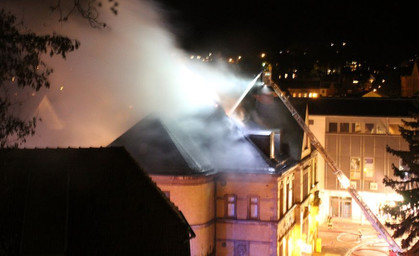 Brand in der alten Post Sondershausen