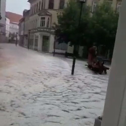 Unwetter in Sondershausen